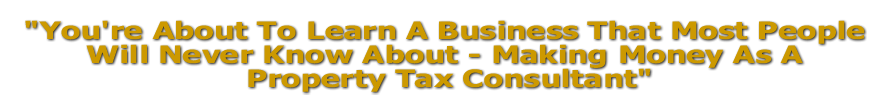 Property Tax Consultant Businss Course